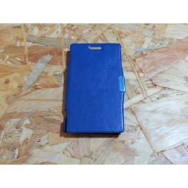 Capa de Livro Azul Escura Optimus L5/E610