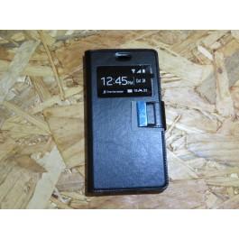 Flip Cover Preta Huawei P8