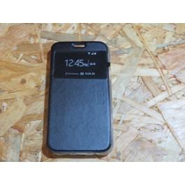 Flip Cover Preta Samsung J5 / J500