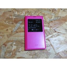 Flip Cover Rosa Samsung Galaxy S5