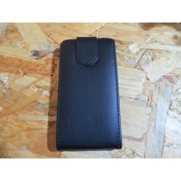 Flip Cover Preta Nokia Lumia N520