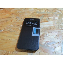 Flip Cover Preta Vodafone Smart N8