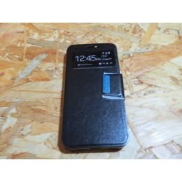 Flip Cover Preta Vodafone Smart N9 Lite