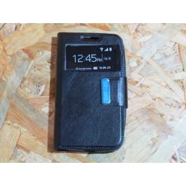 Flip Cover Preta Vodafone Smart 4 mini