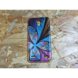 Capa Silicone Flor Colorida ZTE Blade A520