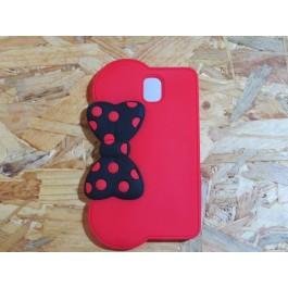Capa 3D Laço Preto com Bolas Vermelhas Samsung Galaxy Note 3 / N9005