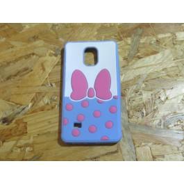 Capa 3D Laço Rosa Samsung Note 4 / N910F