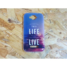 Capa Silicone Frases Alcatel One Pop C7 / 7040