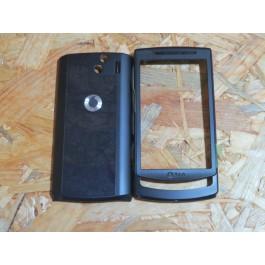Capa Frontal & Tampa de Bateria Preta Samsung I8320