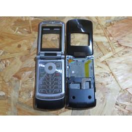 Capa Completa S/ Tampa de Bateria Preta Motorola V3xx