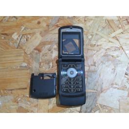 Capa Completa S/ Tampa de Bateria Preta Motorola V3