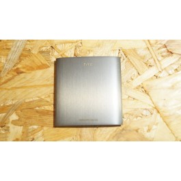 Tampa de Bateria Cinza Metal HTC HD II