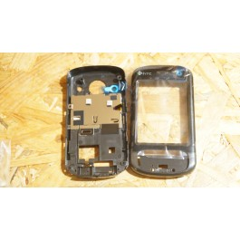 Capa Frontal & Middle Cover Preta HTC P3600
