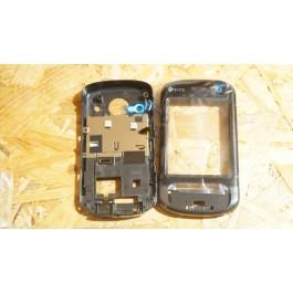Capa Frontal & Middle Cover Preta HTC P3600