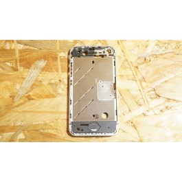 Middle Cover Cinza Metal Iphone 4