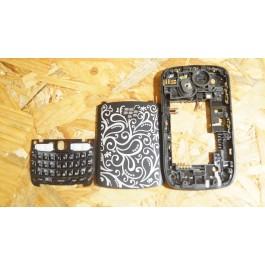 Capa Middle Cover & Tampa de Bateria C/ Teclado Preta Blackberry Curve 8530