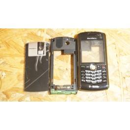 Capa Completa C/ Teclado Preta Blackberry 8100