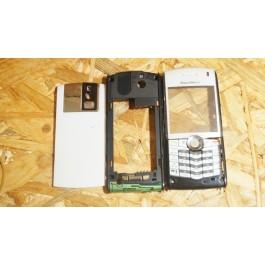 Capa Completa C/ Teclado Cinzenta Blackberry 8100 Compativel