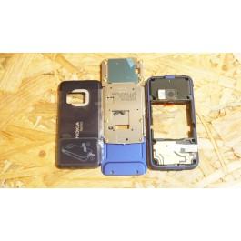 Capa Slide & Middle Cover & Tampa de Bateria Azul Nokia N81