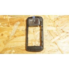 Capa Middle Cover Preta Nokia N97