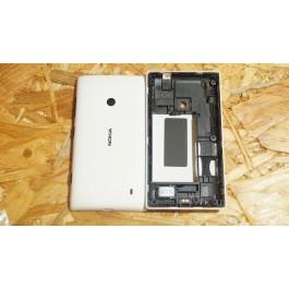 Capa Tampa de Bateria & Middle Cover Branca Nokia Lumia 520