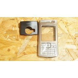 Capa Frontal & Suporte Camera & Teclado Cinza Nokia N70