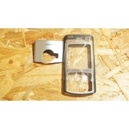Capa Frontal & Suporte Camera & Teclado Preta Nokia N70