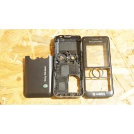Capa Completa S/ Teclado Preta Sony Ericsson V630i