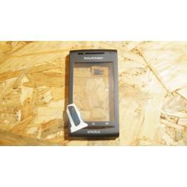 Capa Frontal C/ Touch Preta Sony Ericsson X8