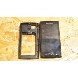 Capa Middle Cover & Modulo Preto Sony Ericsson X10