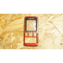 Capa Frontal S/ Teclado Vermelha Sony Ericsson K610i