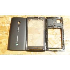 Capa Completa S/ Touch Preta Sony Ericsson X10