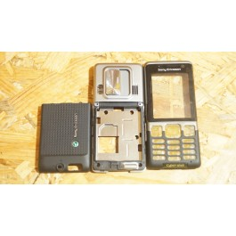 Capa Completa S/ Teclado Preta Sony Ericsson C702