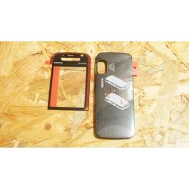 Lente & Tampa de Bateria Preta Nokia 5730