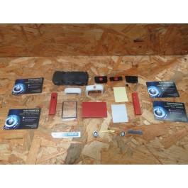 Capa Completa Vermelha & Branca S/ Teclado Nokia 5700