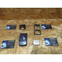 Capa Frontal & Tampa de Bateria C/ Teclado Azul Nokia N72 Compativel