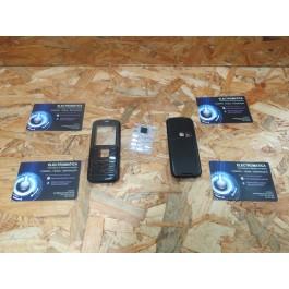 Capa Frontal & Tampa de Bateria C/ Teclado Preta Nokia 6080