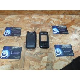 Capa Frontal & Tampa de Bateria C/ Teclado Preta Nokia 5200