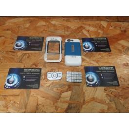 Capa Frontal & Tampa de Bateria C/ Teclado Azul Nokia 5300