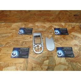 Capa Frontal & Tampa de Bateria Cinza Nokia 3650 Compativel