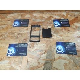Capa Frontal & Tampa de Bateria Preta Nokia N95 Compativel