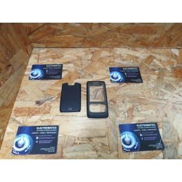 Capa Frontal & Tampa de Bateria Preta Nokia E65