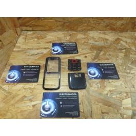Capa Frontal & Cover VGA C/ Teclado Preta & Vermelho Nokia 5320