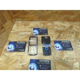 Capa Frontal & Cover VGA C/ Teclado Preta & Azul Nokia 5320