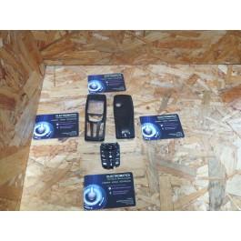 Capa Frontal & Tampa de Bateria Preta Nokia 7250 Compativel