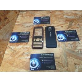 Capa Frontal & Tampa de Bateria Preta & Vermelha Nokia 5630x
