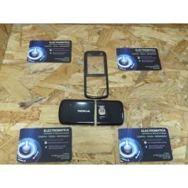 Capa Frontal & Tampa de Bateria Preta Nokia 5320