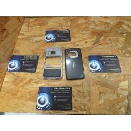 Capa Middle Cover & Tampa de Bateria Preto Nokia N96
