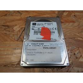 Disco Rigido 40Gb Toshiba MK4025GAS IDE 2.5 Recondicionado Ref: E-H011-02-5168
