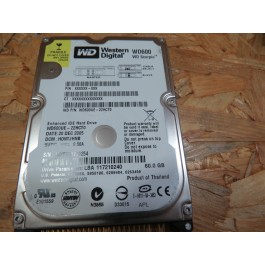 Disco Rigido 60Gb Western Digital WD600 IDE 2.5 Recondicionado Ref: WD600UE-22HCT0